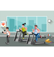 people go in for sports in the fitness club vector image vector image