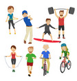 people playing different sports vector image