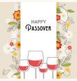 pesah celebration concept jewish passover vector image vector image