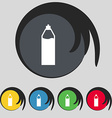 Plastic bottle with drink icon sign Symbol on five vector image vector image
