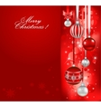 Red christmas holiday background vector image vector image