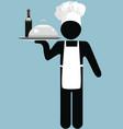 Restaurant waiter vector image