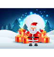 santa claus with gifts vector image vector image