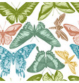 seamless pattern with hand drawn pastel vector image vector image