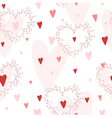 seamless pattern with hearts and wreaths vector image vector image