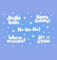 set of christmas and new year lettering vector image