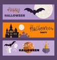 Set of halloween cards1 vector image vector image