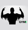 silhouette of a bodybuilder gym logo vector image
