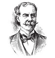 sir thomas lipton vintage vector image vector image