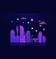 smart city concept with night urban landscape vector image
