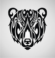Tribal Bear Face vector image vector image
