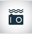 underwater camera icon for web and ui on white vector image