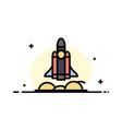 unicorn startup business rocket startup business vector image
