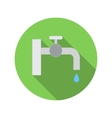 Water tap with drop flat icon vector image