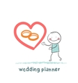 wedding planner ring shows vector image vector image