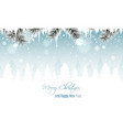 winter landscape banner with branches icicles vector image