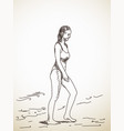 woman in swimsuit vector image vector image