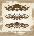 vintage background with skull vinyl decoration vector image