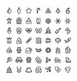 christmas and new year line icons xmas vector image