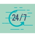 24 7 service with arrow icon vector image