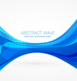 abstract blue wave design vector image vector image