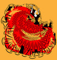 abstract red-yellow image of flamenco vector image vector image