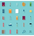 abstract school objects vector image vector image