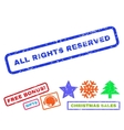 All Rights Reserved Rubber Stamp vector image vector image