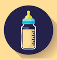 Baby milk bottle icon baby bottle flat
