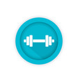 Barbell icon round pictogram