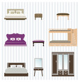 bedroom furniture design vector image vector image