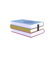 books flat vector image vector image
