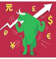 Bull market presents uptrend stock market vector image vector image