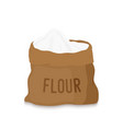 canvas bag with white flour melted grains vector image
