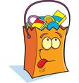 Cartoon Trick or Treat Bag vector image vector image