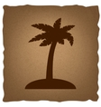 Coconut palm tree sign vector image vector image