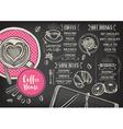 Coffee restaurant cafe menu template design vector image vector image
