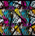colored abstract seamless pattern in graffiti vector image vector image