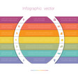 colorful strips and white semicircles for text 7 vector image vector image