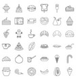 confectionery icons set outline style vector image vector image