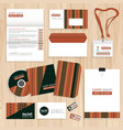 corporate identity template design vector image vector image