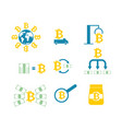 cryptocurrency extraction and exchange set icon vector image