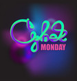 cyber monday banner template vector image