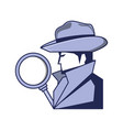 cyber security agent with magnifying glass vector image vector image