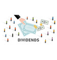 dividends stock market company profit share to vector image vector image