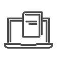 e-book line icon reading vector image vector image
