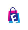 e letter shop store shopping bag overlapping