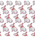 easter bunnies seamless pattern13 vector image vector image