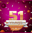 Fifty one years anniversary celebration design