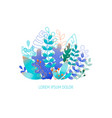 flat leaves - background for banner greeting card vector image vector image